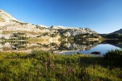 Mountain Reflections at Libby Lake royalty free stock image