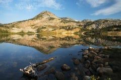 Mountain Reflections at Libby Lake stock photo