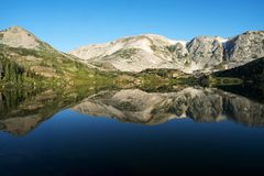 Mountain Reflections at Libby Lake royalty free stock photography