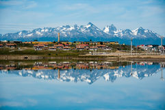 Mountain reflections, Ushuaia,Argentina Royalty Free Stock Image