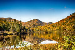 Mountain reflexion. Color-full mountains reflection in a clam river Stock Images