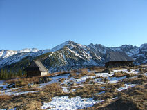Mountain refuge. In national park Tatra , Poland Stock Photos
