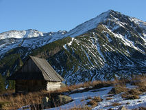 Mountain refuge. In national park Tatra , Poland stock photo