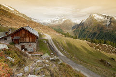 A mountain refuge in Autumn Stock Photography