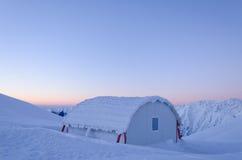 Mountain refuge in Fagarasi Mountains Stock Images