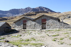 Mountain refuge house in Italian Alps. Gran Paradiso National Park Royalty Free Stock Image