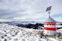 Mountain refuge with solar panel Stock Photos