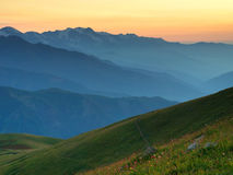 Mountain region Stock Photo
