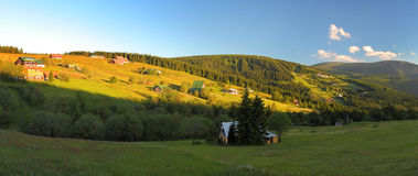 Mountain relief of Krkonose Royalty Free Stock Photos