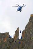Mountain rescue Stock Image
