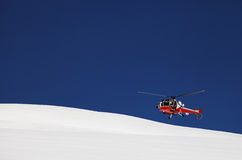 Mountain Rescue Helicopter Stock Photography
