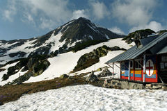 Mountain rescue refuge. Mountain rescue team cabin from Retezat -Romanian Carpathian royalty free stock image