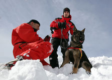 Mountain Rescue Service at Red Cross Stock Photo