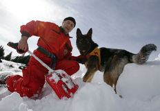 Mountain Rescue Service at Red Cross Royalty Free Stock Images
