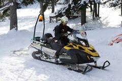 Mountain rescue service sledge-car Stock Photography
