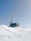 Mountain rescue service  in snow. Mountain rescue service in snow, sunny daiVitosha Mountain near Sofia City, Bulgaria Royalty Free Stock Photos