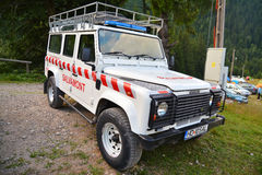 Mountain rescue vehicle Stock Image