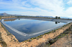 A Mountain Reservoir - Dake Drinking Water Deposit Fresh  Stock Photo