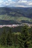 Mountain resort. Vatra Dornei resort over view Royalty Free Stock Photo