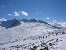 Mountain resort. Highest peak in Balkans on mountain Rila, Bulgaria Royalty Free Stock Photo