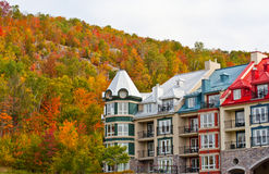 Mountain resort in autumn Stock Images
