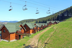 Mountain resort of Bukovel in Ukraine Royalty Free Stock Images