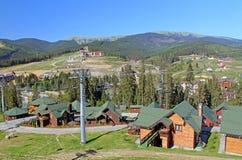 Mountain resort of Bukovel in Ukraine Stock Photos