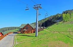 Mountain resort of Bukovel in Ukraine Stock Photo