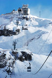 Mountain resort cable car stock image