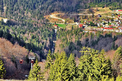 Mountain Resort. Carpathian mountain resort Azuga in Romania Royalty Free Stock Image