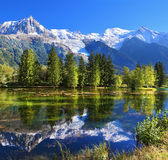 The mountain resort of Chamonix in France Stock Image