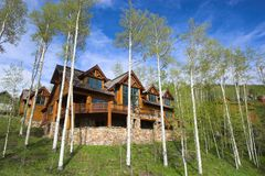 Mountain resort house Stock Photography