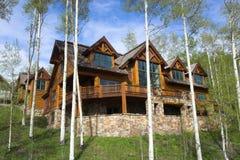 Mountain resort house Stock Photos