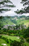 Luxury mountain resort at winter in Dalat, Vietnam. Mountain resort at summer in Dalat, Vietnam. Da Lat is centered around a lake and golf course, and surrounded Royalty Free Stock Photography