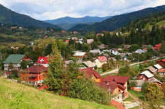 Mountain resort in Transcarpathia. Royalty Free Stock Photo