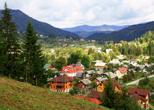 Mountain resort in Transcarpathia. Stock Photo
