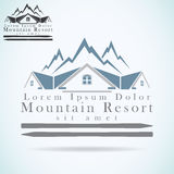 Mountain Resort Vector Logo Design Template. Rooftop Icon. Realty Construction Architecture Symbol Royalty Free Stock Images