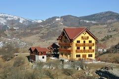 Mountain resort village Stock Photo
