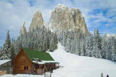Mountain resort in winter Stock Photography