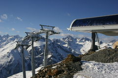Mountain resorts of Russia, Dombay Stock Images