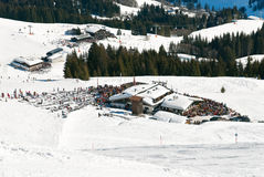 Mountain restaurant in Saalbach Hinterglemm region Royalty Free Stock Photography