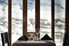 Mountain restaurant view Stock Photography