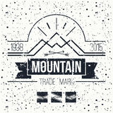 Mountain retro emblem Stock Photo