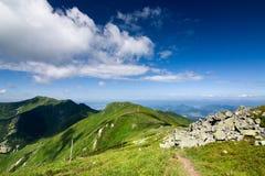 On the mountain-ridge Stock Image