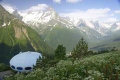 Mountain ridge. Beautiful mountains in the summer on Dombai Stock Photo
