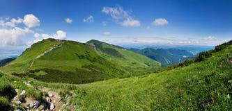 On the mountain-ridge Stock Photography