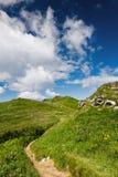 On the mountain-ridge Stock Photos