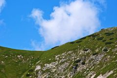 Mountain ridge. With blue sky as background royalty free stock photography