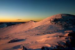 Mountain ridge. Sunrise color on pelister mountain Stock Photos