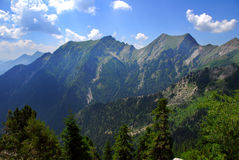 Mountain ridge. In Greece during spring time Stock Photography